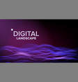 data landscape energy space topography vector image vector image