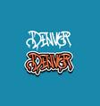 denver colorado usa hand lettering graffiti tag vector image vector image