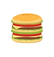 Dinner buns burger icon vector image