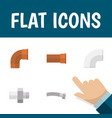 flat icon plumbing set of connector cast iron vector image vector image