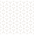 floral minimal geometric seamless pattern vector image