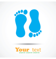 Foot imprint background vector image vector image