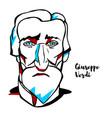 giuseppe verdi portrait vector image vector image