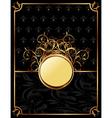 gold invitation frame or packing for elegant vector image