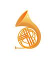 gold metal bass trumpet modern musical instrument vector image
