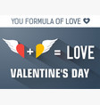 gray valentines day concept vector image vector image