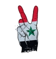 hand gesture of victory flag Syria vector image vector image