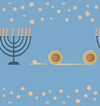 hanukkah greeting card with lamp and a six-pointed vector image
