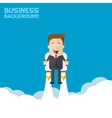 Happy businessman or manager flying on jetpacks to vector image vector image