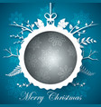 happy new year ball - winter vector image vector image
