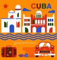havana cuba poster vector image vector image