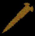 hexagon halftone screw icon vector image
