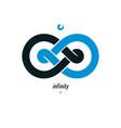 infinity loop conceptual logo special sign vector image