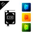 law book icon isolated on white background legal vector image vector image