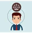 man and justice isolated icon design vector image