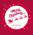merry christmas santa claus and reindeer vector image vector image