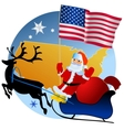 Merry Christmas United States vector image