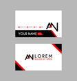 modern creative business card template with an vector image vector image