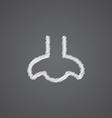nose sketch logo doodle icon vector image