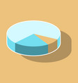 paper sticker on theme arabic business pie chart vector image vector image