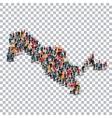 people map country Uzbekistan vector image vector image