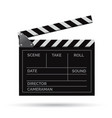 realistic movie clapper slapstick with vector image