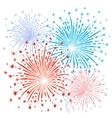 Red blue fireworks vector image