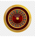 roulette casino mockup realistic style vector image