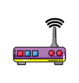 router digital wifi technology network vector image