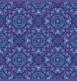 seamless pattern in moroccan style mosaic tile vector image