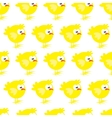 Seamless pattern with chicken on white background vector image