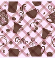 seamless pattern with cute cups vector image