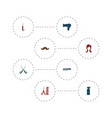 set of barbershop icons flat style symbols with vector image vector image