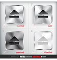 Set of four positions of Metal Eject Button vector image vector image