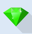 side of emerald icon flat style vector image vector image