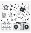Sketchy music vector image