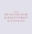 stencil-plate serif font vector image vector image