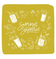 summer smoothie lettering written with cursive vector image vector image