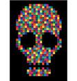 t-shirt graphicsskull skull evil skullconcert vector image vector image