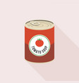 tomato soup in canned vector image vector image