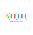two hundred thousand subscribers baner colorful vector image vector image