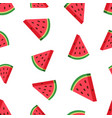 watermelon fruit seamless pattern background vector image