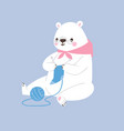 white polar bear animal cute beauty vector image vector image