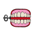 wind up chattering teeth funny toy icon image vector image vector image
