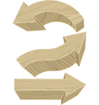 Wooden arrows vector image vector image