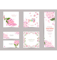 collection of greeting cards with a blossom lilac vector image