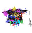 colorful mortarboard cap vector image
