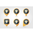 Sheep mapping pins icons vector image