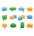 color speech bubble icons vector image