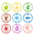 cute ABC stamps vector image